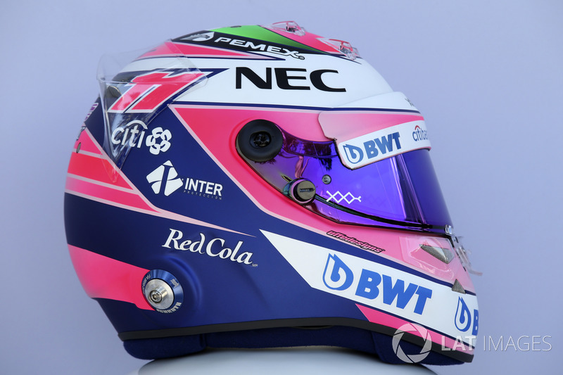 Sergio Perez, Force India helmet