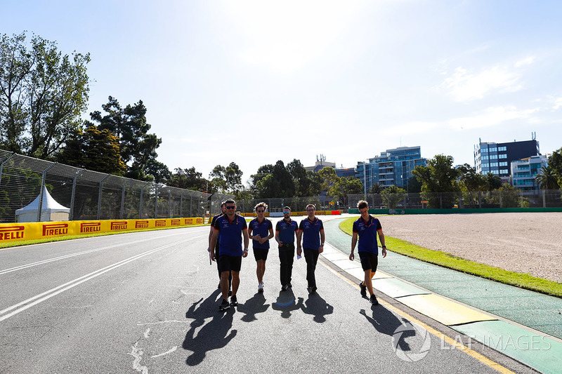 Track walk with Romain Grosjean, Haas F1 Team