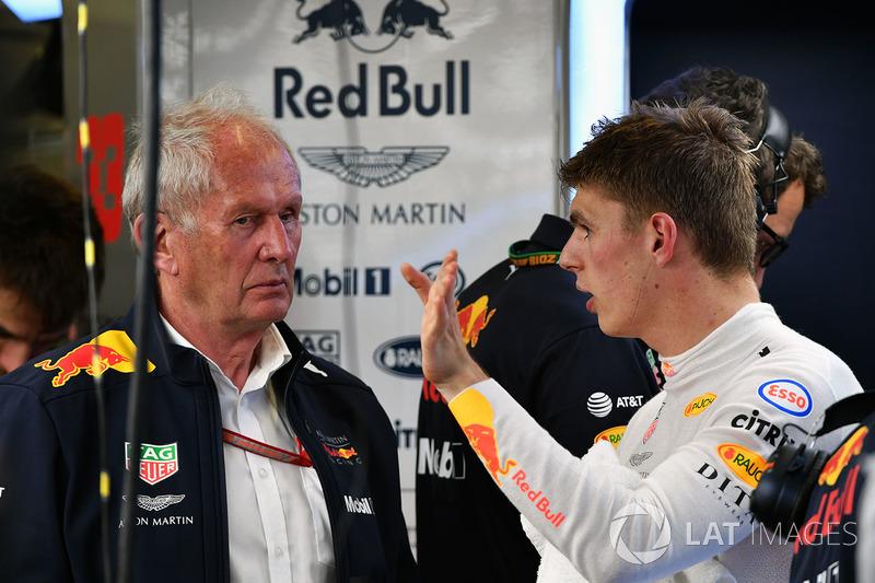 Dr Helmut Marko, Red Bull Motorsporları Danışmanı ve Max Verstappen, Red Bull Racing