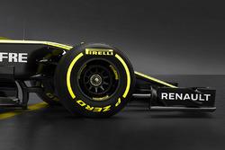Avant de la Renault F1 Team RS18