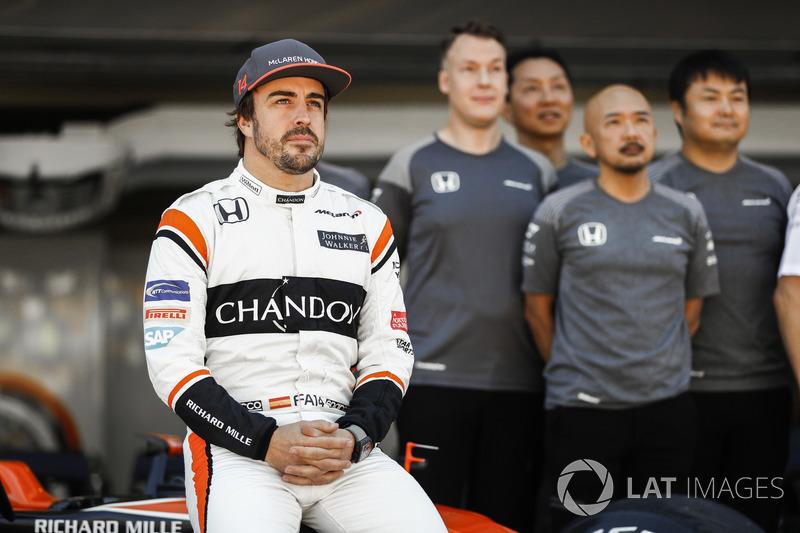 Fernando Alonso, en la foto del equipo McLaren