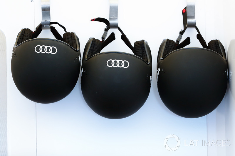 Helmets of the Lucas di Grassi, Audi Sport ABT Schaeffler team