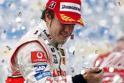 Fernando Alonso, McLaren MP4-22, 3rd position, on the podium