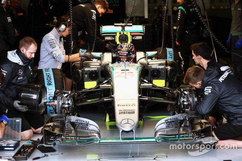 Esteban Ocon, Mercedes AMG F1 W07 Hybrid, Testfahrer