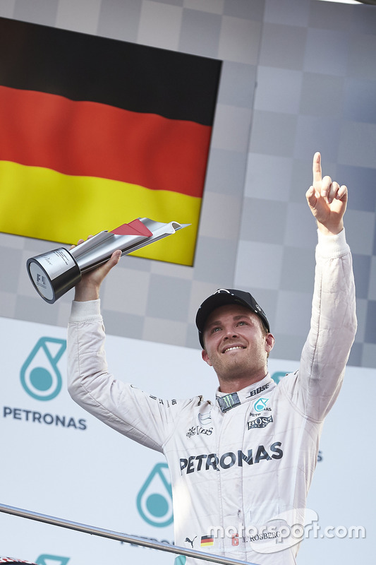 Podium: third place Nico Rosberg, Mercedes AMG F1