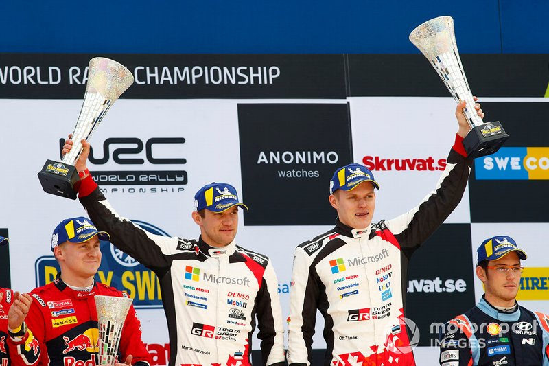 I vincitori Ott Tänak, Martin Järveoja, Toyota Gazoo Racing WRT