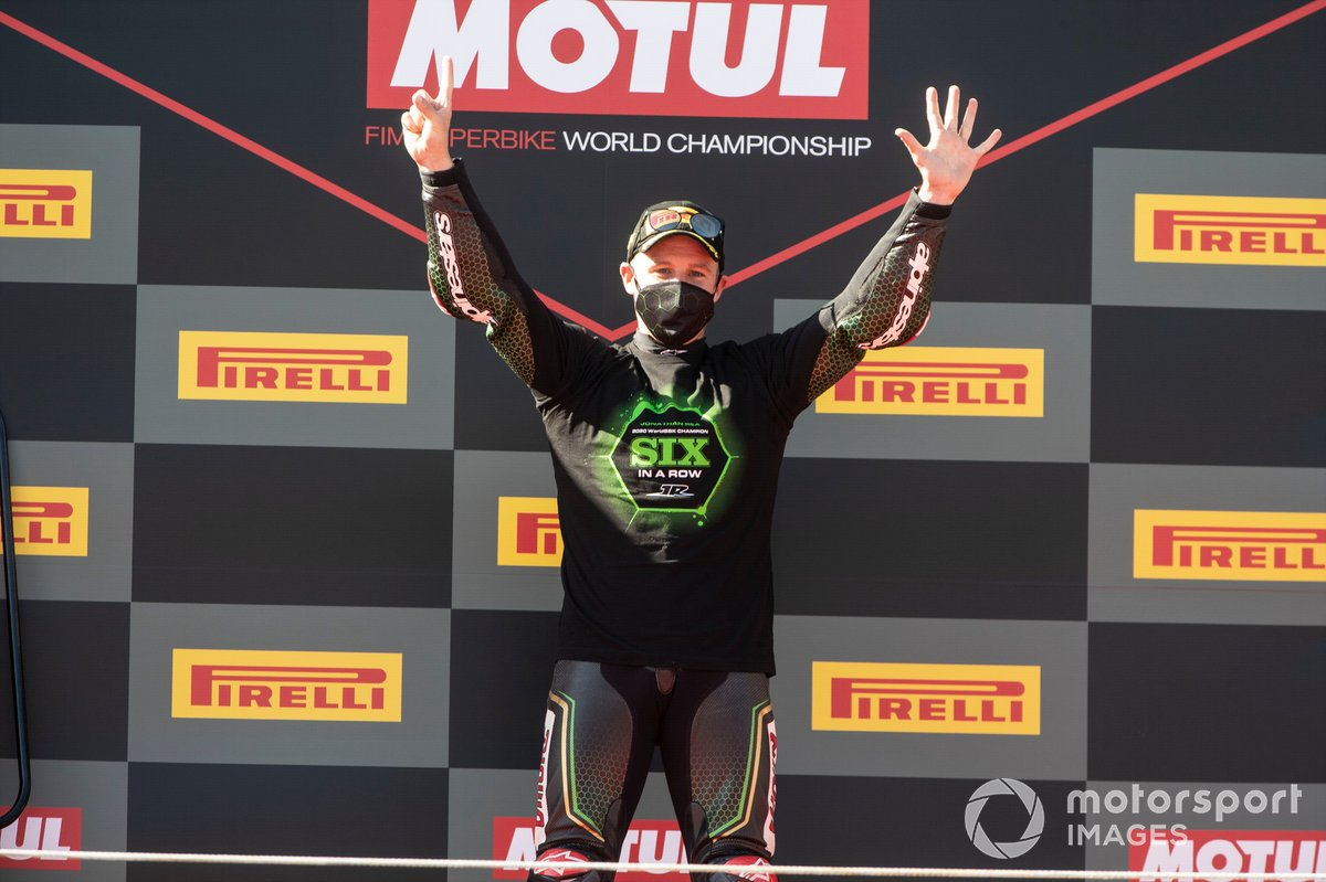 Jonathan Rea, Kawasaki Racing Team celebrates his sixth World Championship