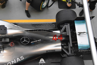 Mercedes technical detail from above