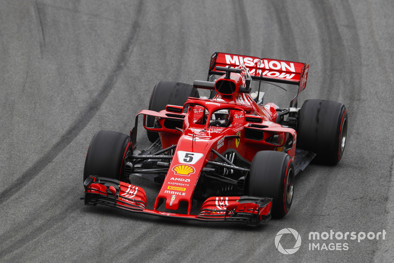2: Sebastian Vettel, Ferrari SF71H: 1:07.374