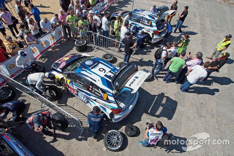 Sébastien Ogier, Julien Ingrassia, Volkswagen Polo WRC, Volkswagen Motorsport; Andreas Mikkelsen, Anders Jäger, Volkswagen Polo WRC, Volkswagen Motorsport