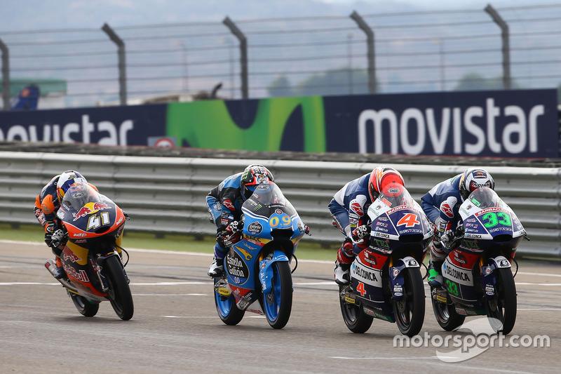 Enea Bastianini, Gresini Racing Team Moto3; Fabio Spiranelli, CIP-Unicorn Starker