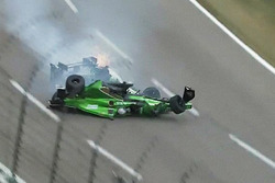 Conor Daly, Dale Coyne Racing Honda and Josef Newgarden, Ed Carpenter Racing Chevrolet in huge crash