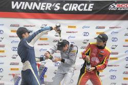 Podium: race winner Kyle Kirkwood, second place Skylar Robinson, third place Jackie Ding