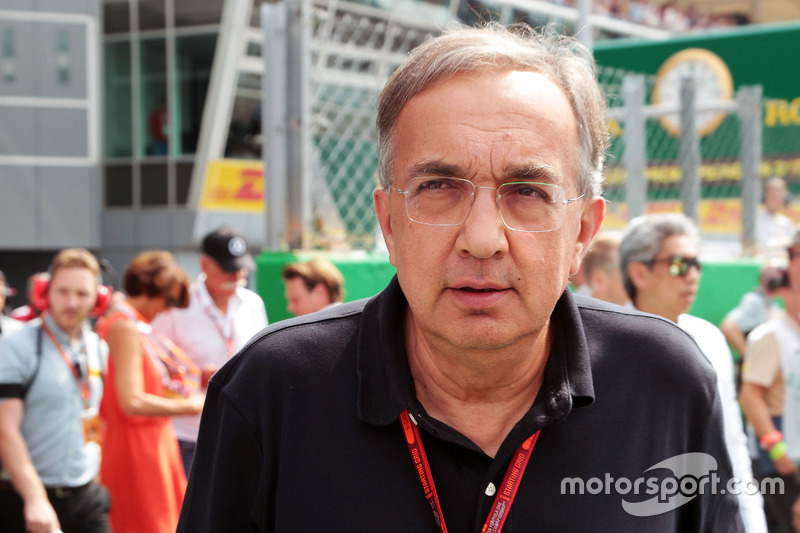 Sergio Marchionne,, Ferrari President and CEO of Fiat Chrysler Automobiles on the grid