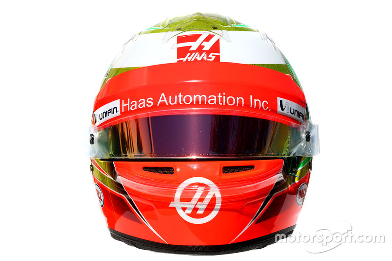 Il casco di of Esteban Gutierrez, Haas F1 Team