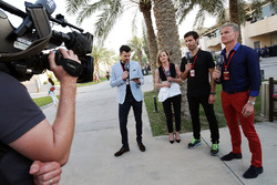 Steve Jones, Channel 4 F1 Presenter, Susie Wolff, Mark Webber, Porsche Team WEC Driver - Channel 4 Presenter and David Coulthard, Red Bull Racing and Scuderia Toro Advisor and Channel 4 F1 Commentator