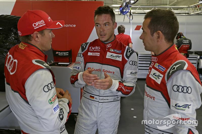 Marcel Fässler, Andre Lotterer, Benoit Tréluyer, Audi Sport Team Joest