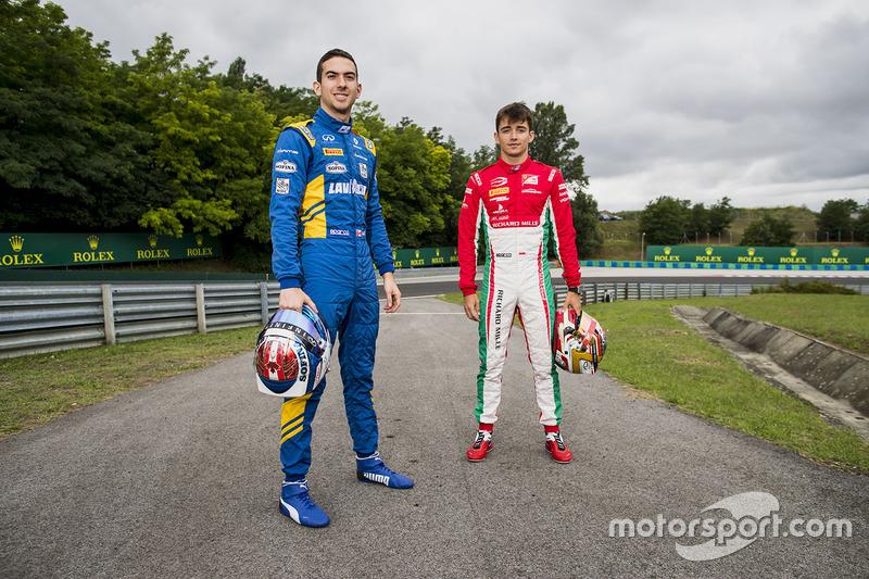 Charles Leclerc, PREMA Powerteam y Nicholas Latifi, DAMS