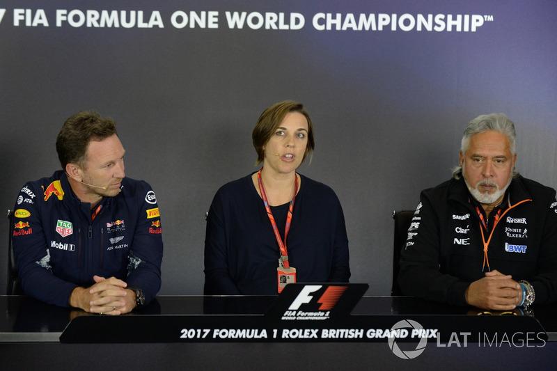 Керівник Red Bull Racing Крістіан Хорнер, заступник керівника WilliamsКлер Вілльямс, власник Sahara
