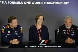 Christian Horner, Red-Bull-Teamchef, Claire Williams, Stellvertretende Williams-Teamchefin, Dr. Vijay Mallya, Force-India-Teambesitzer