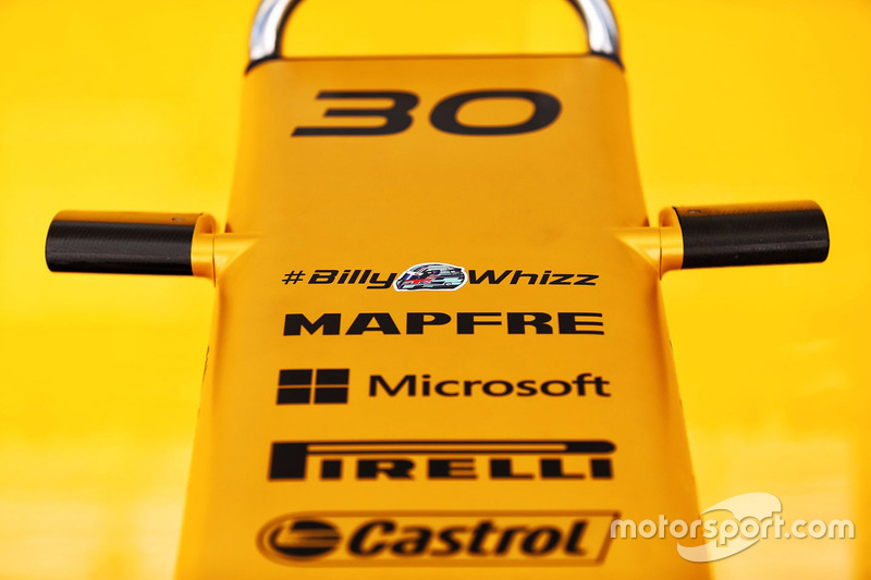 Renault Sport F1 Team RS17 con el lema #BillyWhizz