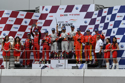 Podium GT winners: #31 Team Audi Korea Audi R8 LMS GT3: Kyong Ouk You, Marchy Lee, Alex Yoong, second place #3 DH Racing Ferrari 488 GT3: Rino Mastronardi, Alex Riberas, Olivier Beretta, third place #37 Team BBT Ferrari 488 GT3: Anthony Liu, Davide Rizzo, Alessandro Pier Guidi