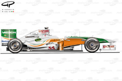 Force India VJM02 2009 Silverstone side view