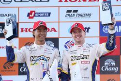 Podium GT500: winners Ryo Hirakawa, Nick Cassidy, Team Tom's