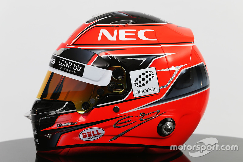 The helmet of Esteban Ocon, Sahara Force India F1 Team