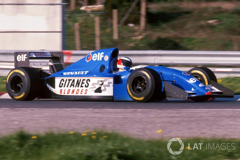 Міхаель Шумахер тестує Ligier JS39B Renault з двигуном Renault V10