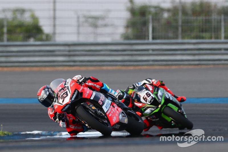 Marco Melandri, Ducati Team; Tom Sykes, Kawasaki Racing