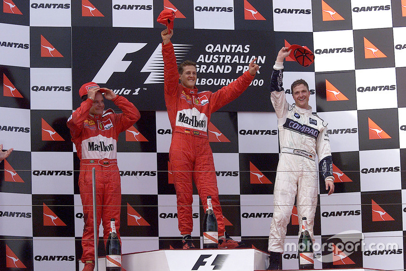 2000. Подіум: 1. Міхаель Шумахер, Ferrari. 2. Рубенс Баррікелло, Ferrari. 3. Ральф Шумахер, Williams BMW