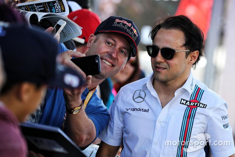 Felipe Massa, Williams, mit Fans