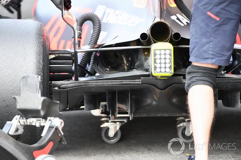 Red Bull Racing RB13, rear diffuser