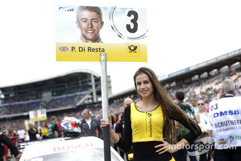 Grid girl of of Paul Di Resta, Mercedes-AMG Team HWA, Mercedes-AMG C63 DTM