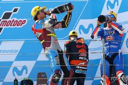 Podium: 1. Franco Morbidelli, Marc VDS; 2. Mattia Pasini, Italtrans Racing Team; 3. Miguel Oliveira,