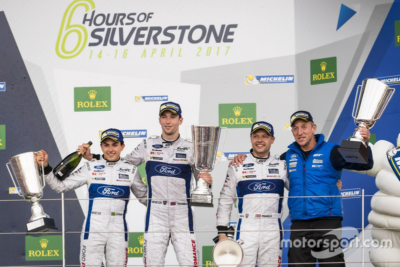Podium GTE-Pro: Race winner #67 Ford Chip Ganassi Racing Ford GT: Andy Priaulx, Harry Tincknell, Pipo Derani