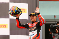 Podium: winner Chaz Davies, Ducati Team