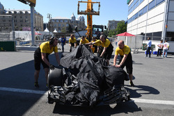 The car of Jolyon Palmer, Renault Sport F1 Team RS17