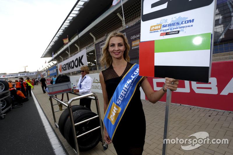 Grid girl of #28 GP Extreme Renault RS01 FGT3: Jordan Grogor, Louis Deletraz, Jean-Eric Vergne, Nick