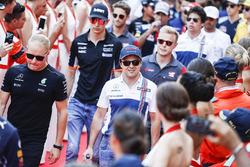 Valtteri Bottas, Mercedes AMG F1, Felipe Massa, Williams, in the drivers parade