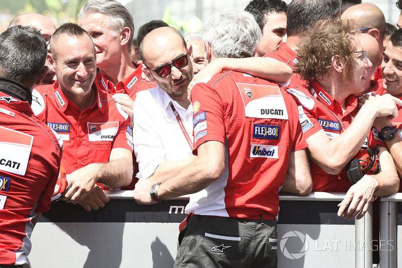Domenicali, Gigi Dall'Igna, Ducati Team General Manager Italian MotoGP race 2018
