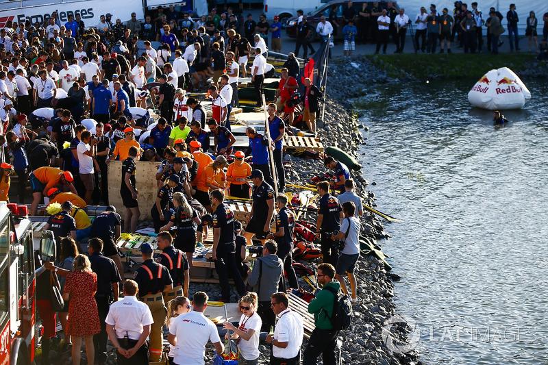 Raft Race preparations