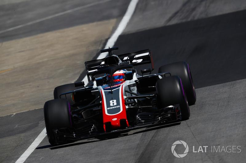 Romain Grosjean, Haas F1 Team VF-18.