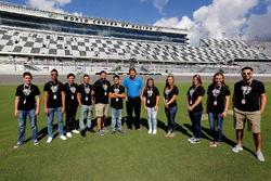 2017 NASCAR Drive for Diversity participants pose for photos with DIS President, Chip Wile