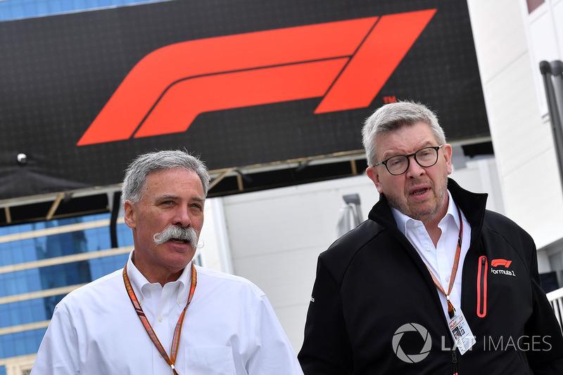 Chase Carey, CEO Formula 1, Ross Brawn, Direktur Olahraga Formula 1