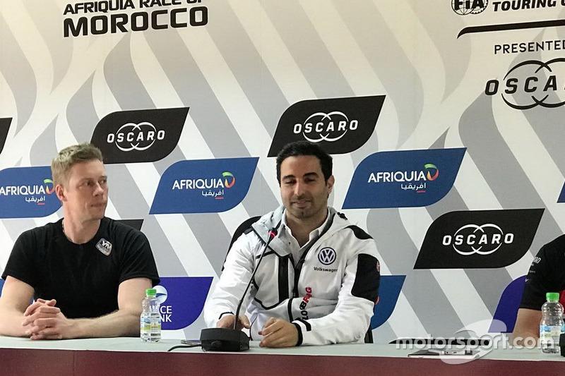 Press Conference, Thed Björk, YMR Hyundai i30 N TCR, Mehdi Bennani, Sébastien Loeb Racing Volkswagen Golf GTI TCR
