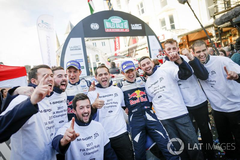 Campeones del mundo Sébastien Ogier, Julien Ingrassia, Ford Fiesta WRC, M-Sport
