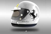 Sebastian Vettel 1970'ler kask konsepti