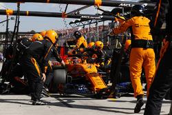 Stoffel Vandoorne, McLaren MCL33, en pits